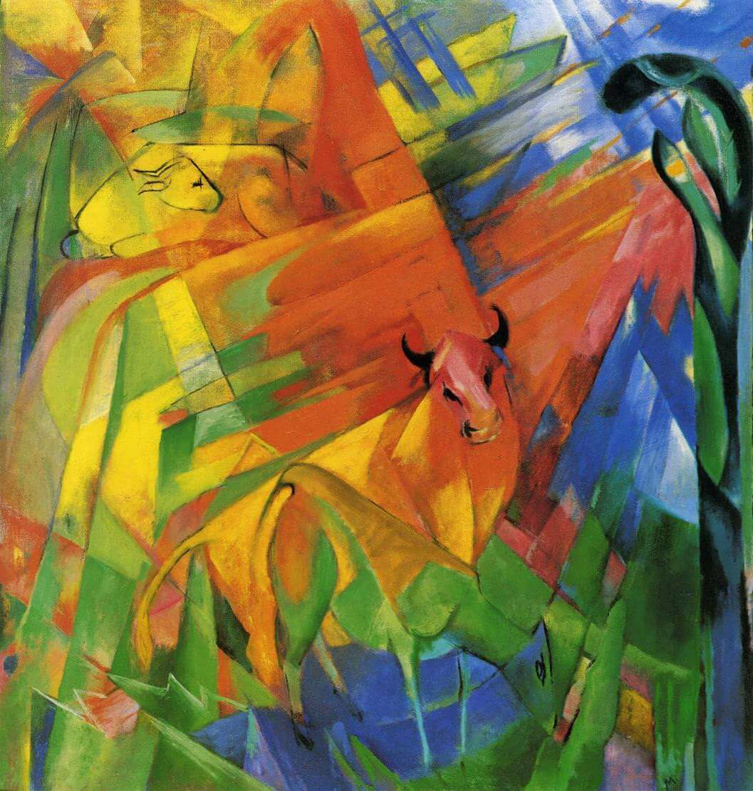 Animals in Landscape by Franz Marc