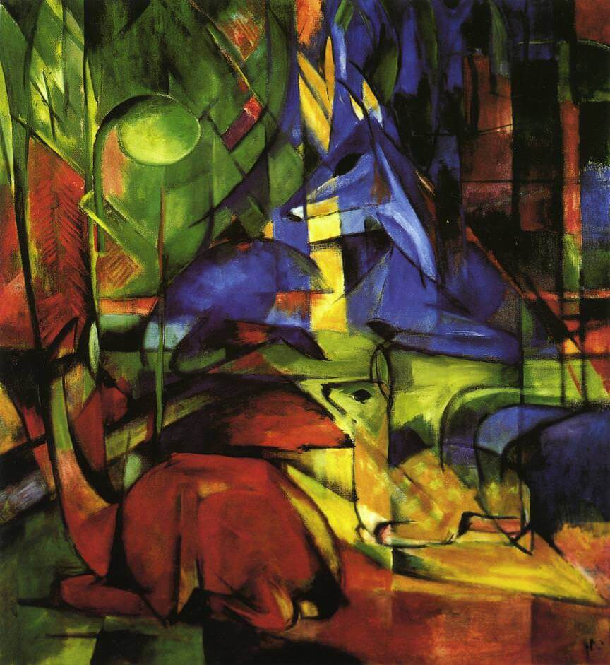 Deer in the Forest, 1914 by Franz Marc