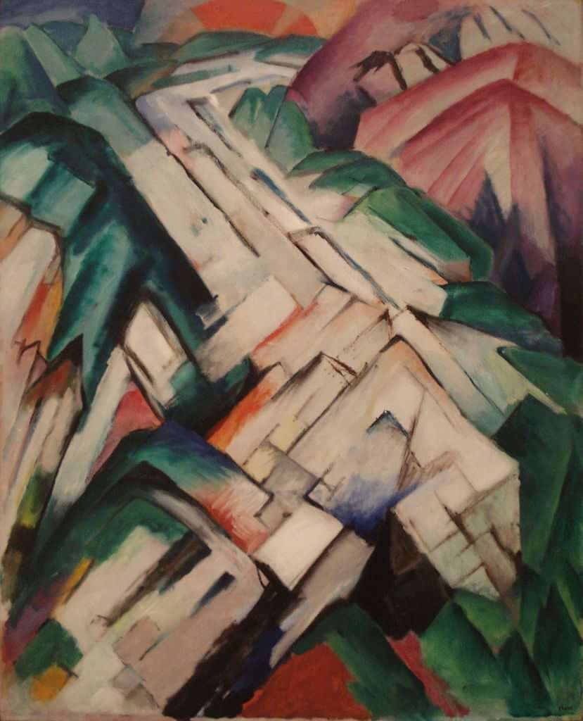 Gebirge (Mountains), 1911 by Franz Marc