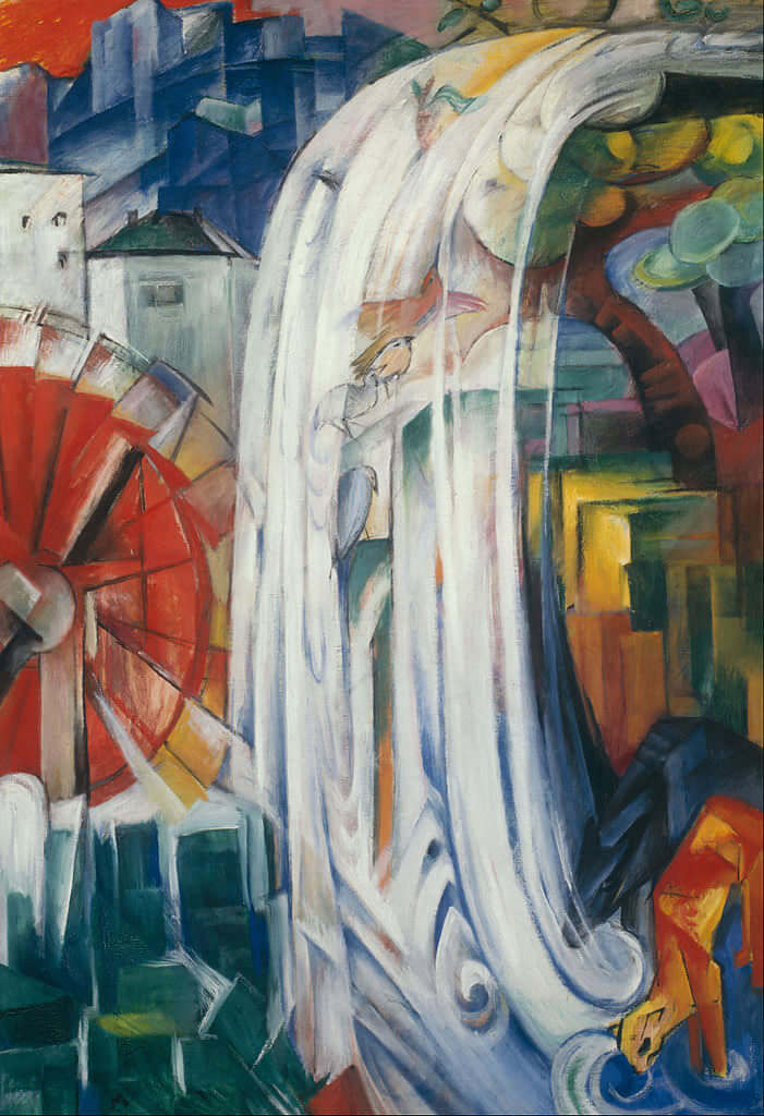 The Bewitched Mill, 1913 by Franz Marc