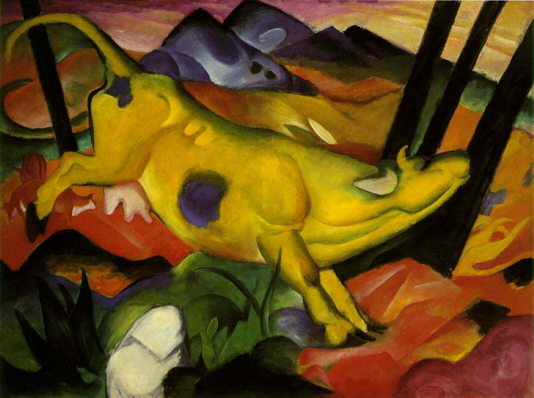 yellow cow by franz marc